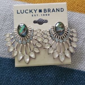 BEAUTIFUL ABALONE STATEMENT EARRINGS